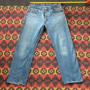Vintage 80-90's 501 Levis jeans. Great fade